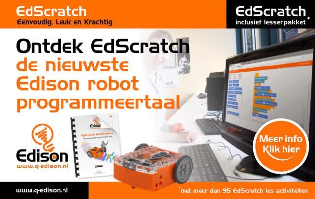 EdScratch   de nieuwste Edison robot programmeertaal